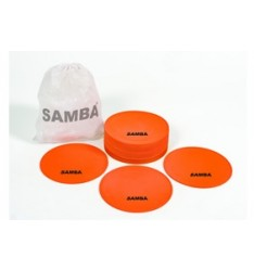 "Samba 9"" Large Round Rubber Flat Markers Set of 20 CONE1200"